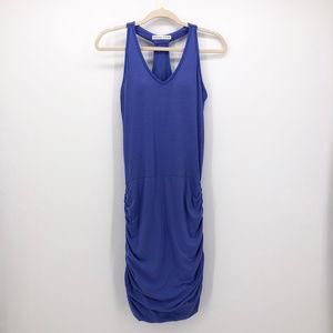 NEW ATHLETA | Baja Blue Ruched Racerback Tee Dress